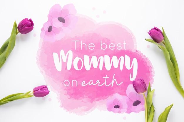 Maquette de la fête des mères avec fond