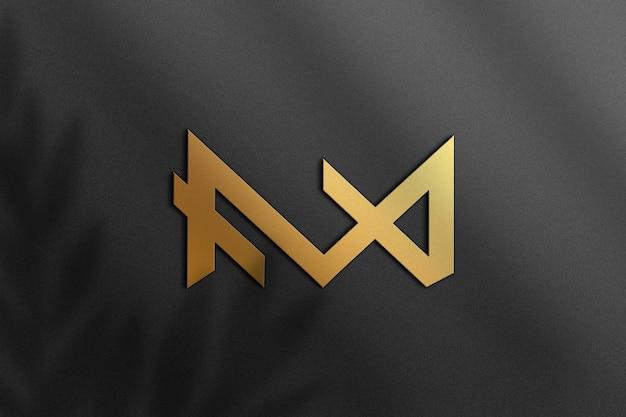 Maquette de feuille d'or de luxe sur papier noir