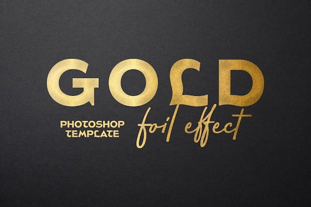 Maquette de feuille d'or