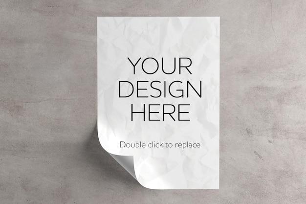 Maquette De Feuille De Papier A4 PSD Premium