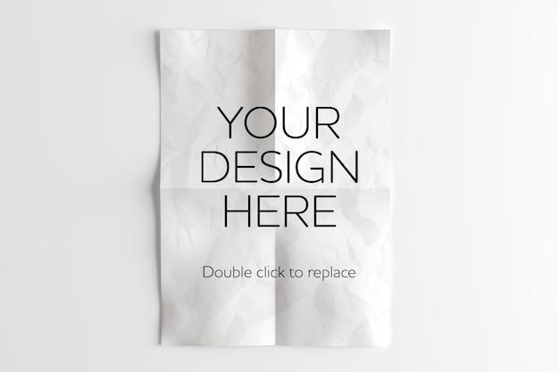 Maquette de feuille de papier a4