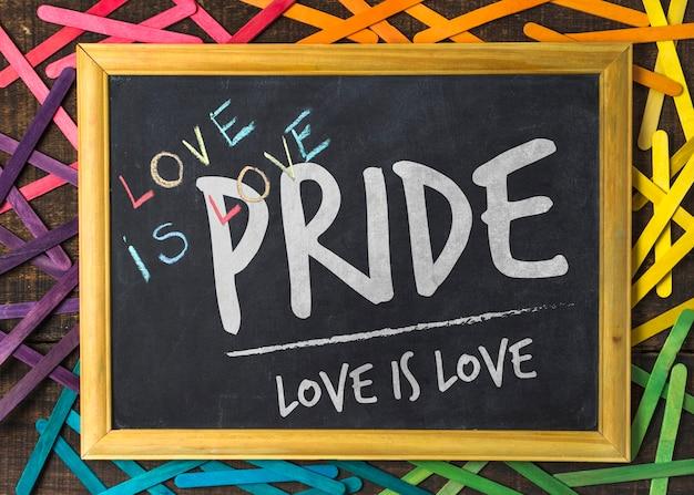 Maquette de fierté gay blackboard