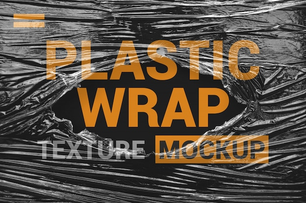 Maquette de film plastique d'emballage déchirée