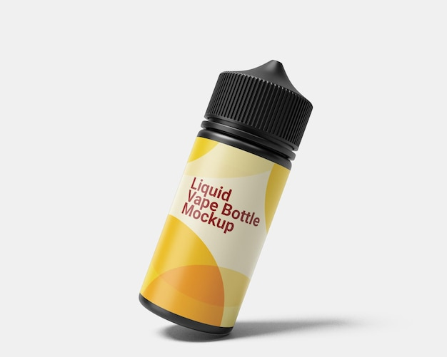Maquette de flacon compte-gouttes liquide vape