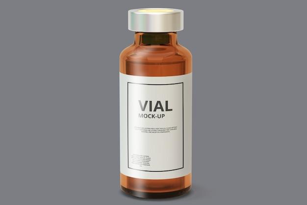 Maquette de flacon de médicament ambre