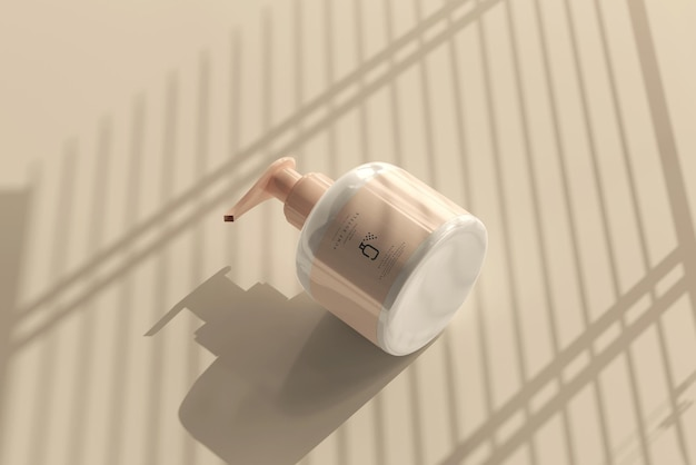 Maquette de flacon pompe