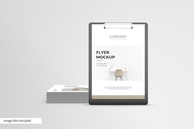Maquette de flyer d'affaires avant avec paper board