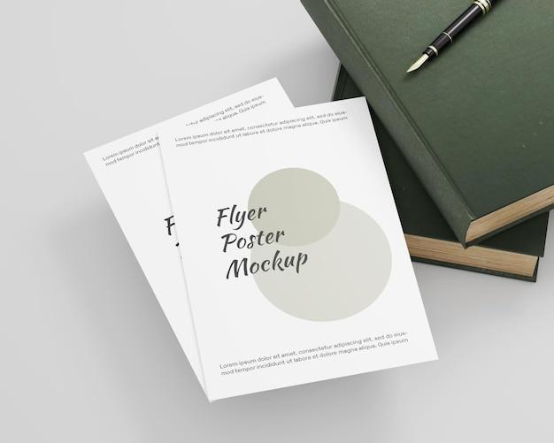 Maquette de flyer affiche minimaliste