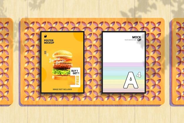 Maquette de flyer et affiche de restaurant