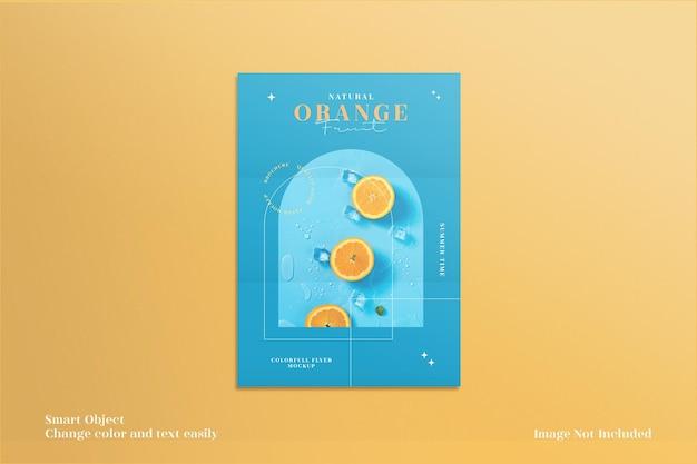 Maquette de flyer ou brochure colorée et minimaliste