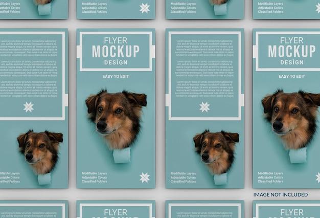 Maquette de flyer créatif pour l'adoption d'animaux de compagnie