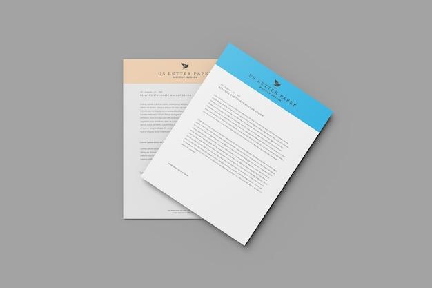 Maquette de flyer en papier à lettre us