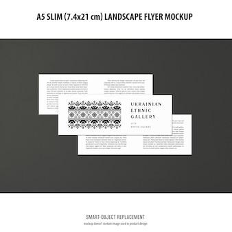 Maquette de flyer paysage mince a5