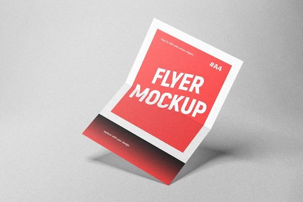 Maquette de flyer rouge
