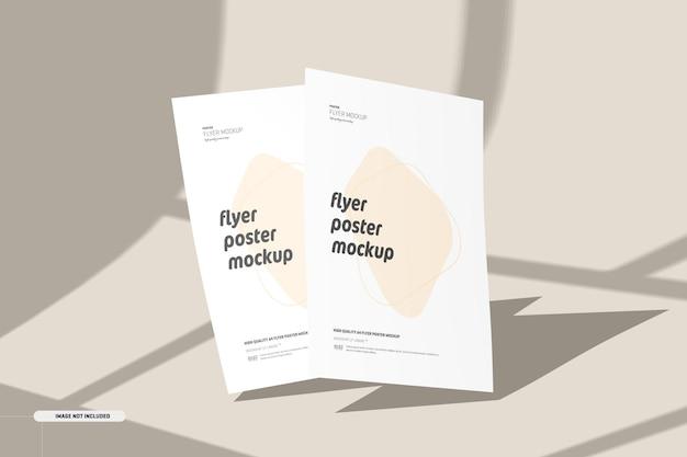 Maquette de flyers avec superposition d'ombres