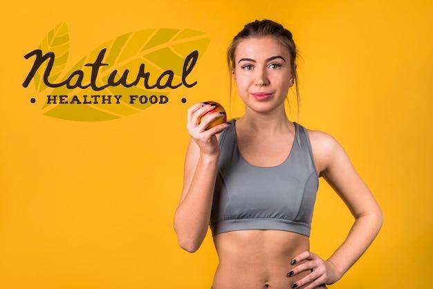 Maquette de fond avec concept d'aliments sains