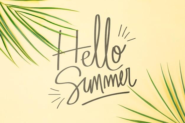 Maquette de fond avec le concept de l'été