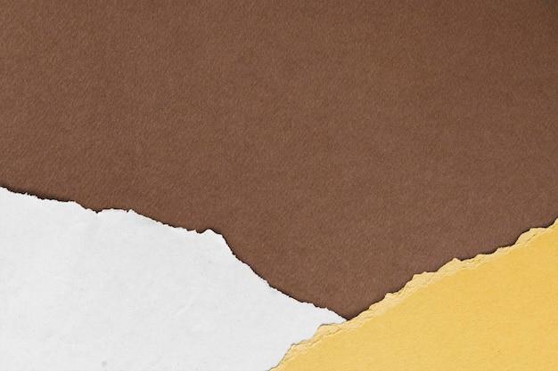 Maquette de fond de papier déchiré psd artisanat fait main ton terre