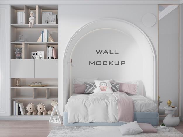 Maquette de fond de papier peint intérieur de la chambre des enfants psd premium