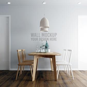 Maquette de fond papier peint intérieur de salle à manger