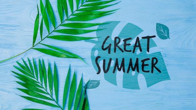 Maquette de fond plat laïque avec concept de l'été