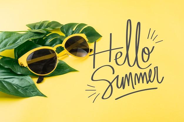 Maquette de fond pour les concepts d'été