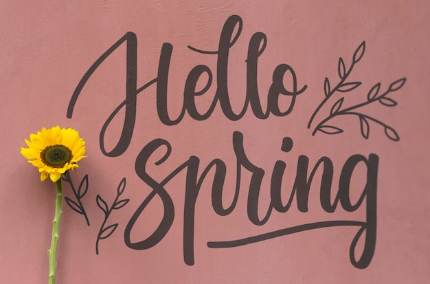 Maquette de fond pour la vente de printemps