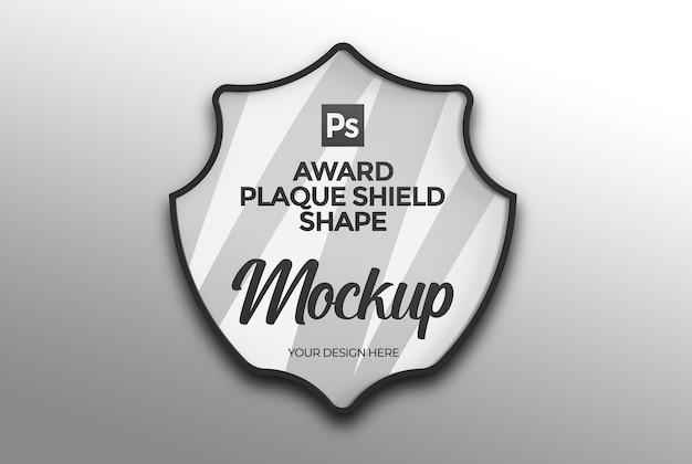 Maquette de forme de bouclier de plaque de récompense
