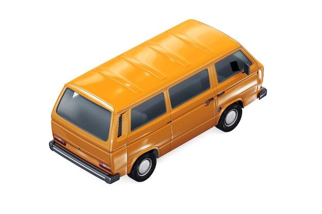 Maquette de fourgon utilitaire 1980