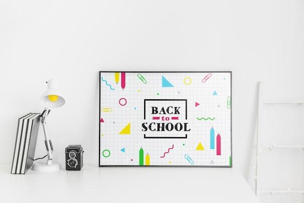 Maquette frame avec le concept de retour à l'école