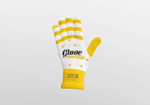 Maquette de gant d'hiver