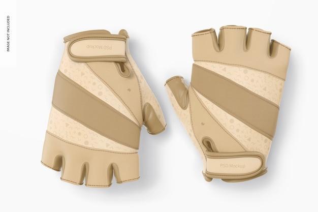 Maquette de gants sans doigts, vue de dessus
