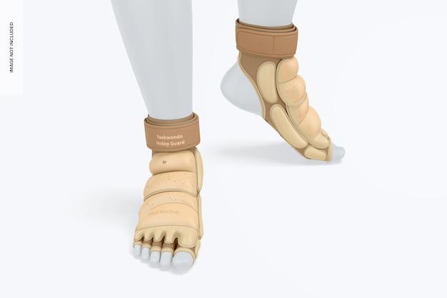 Maquette de garde-pieds de taekwondo