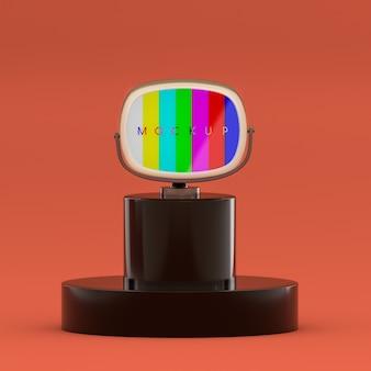 Maquette de glitch tv rétro