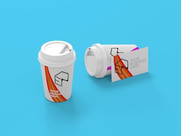 Maquette de gobelet en papier