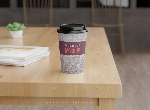 Maquette de gobelets en papier à café