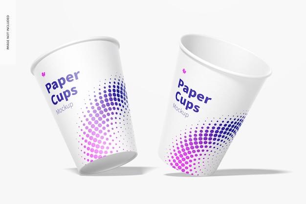 Maquette de gobelets en papier