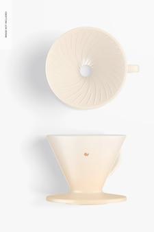 Maquette de goutteurs de café, vue de dessus