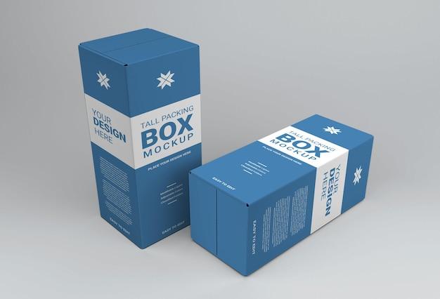 Maquette de grande boîte d'emballage