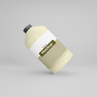 Maquette de grande bouteille premium psd