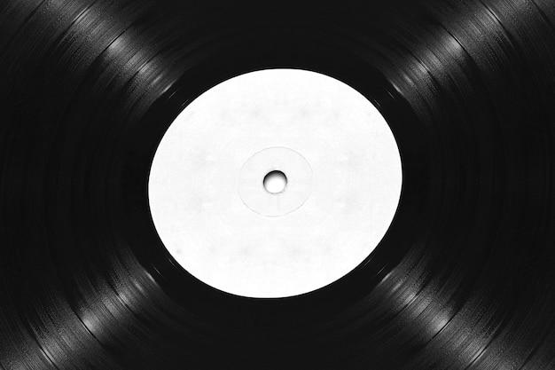 Maquette de gros plan sur disque vinyle vierge