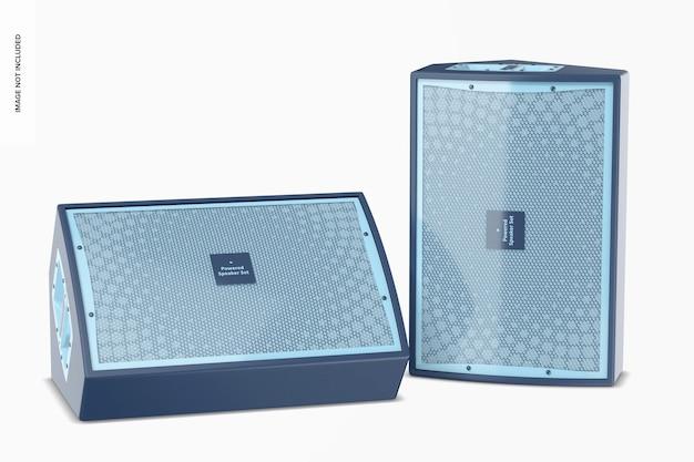 Maquette de haut-parleurs amplifiés