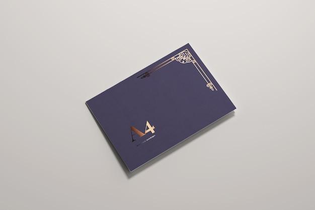 Maquette Horizontale à Pli Long A4 A4 PSD Premium