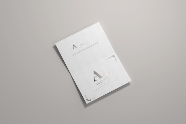 Maquette horizontale à pli long a4 a4