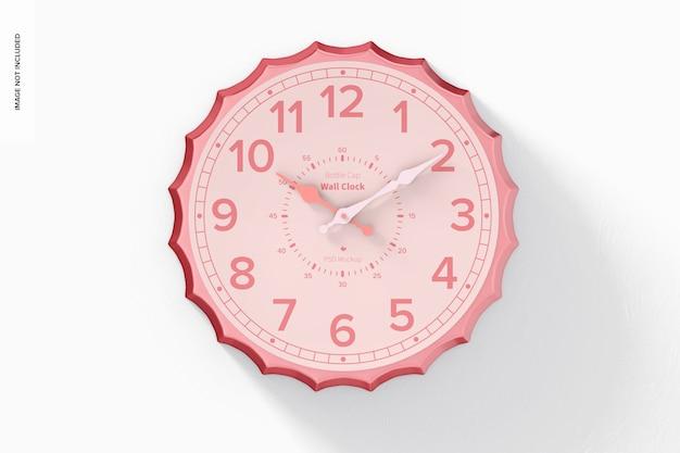 Maquette d'horloge murale de bouchon de bouteille, suspendue