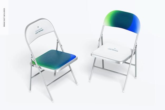 Maquette de housses de chaise promotionnelles