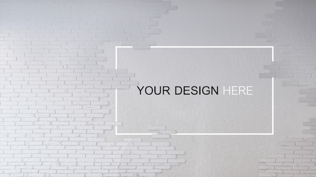 Maquette d'image de rendu 3d de mur en béton