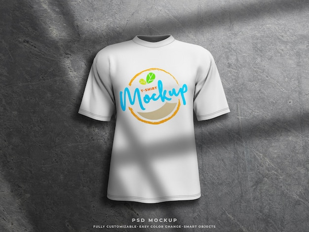 Maquette d'impression d'écran de maquette de tshirt sur le maillot de tshirt rendu 3d