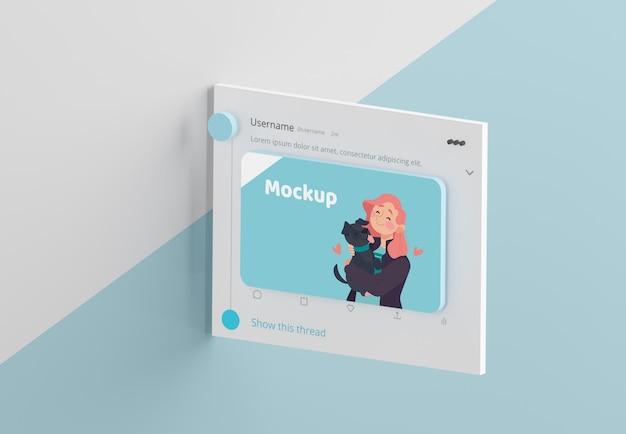 Maquette d'interface d'application de médias sociaux modernes