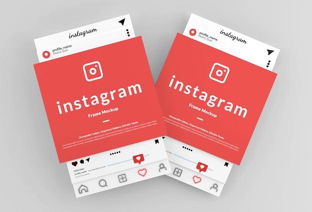 Maquette d'interface de post-cadre instagram
